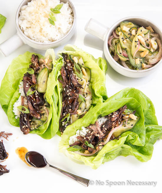 Korean Short Rib Lettuce Wraps from No Spoon Necessary
