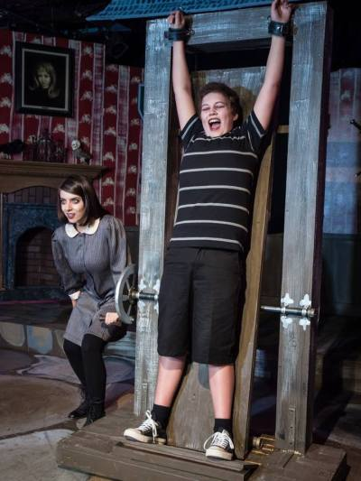 "A shot from ""Pulled"" from The Addams Family Musical"